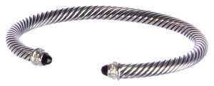 David Yurman Cable Classics Bracelet with Black Onyx 5mm Size Medium $625 NEW