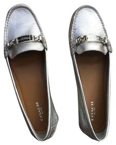Coach Loafer Odette Casual Silver Flats