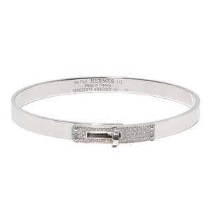 Hermès Hermes Kelly H PM 18K White Gold Diamond Bracelet