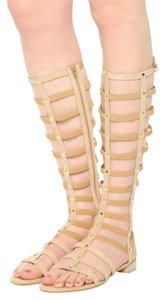 Stuart Weitzman Gladiators Flats Studded nude Sandals