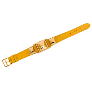 Hermès Hermes Yellow Courcheval Leather Medor Watch PM