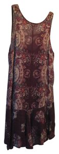 Free People short dress Burgundy Floral on Tradesy