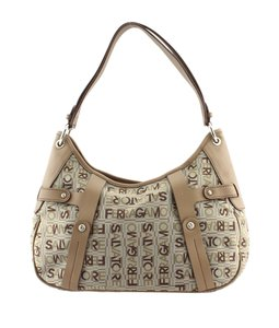 Salvatore Ferragamo Leather Nylon Fabric Hobo Bag