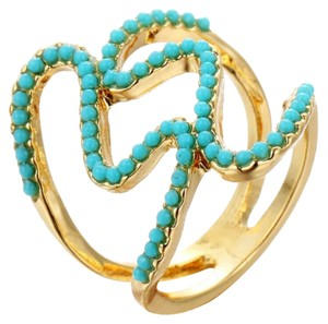Other Beautiful gold and turquoise statment ring in sz 7 and 8