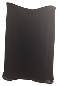 DKNY Ruffle Formal Career Work Classic Skirt Black