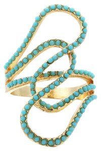 Other Gold and Turquoise statment ring in sz 7 and 8