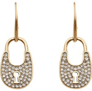 Michael Kors NEW Michael Kors MKJ4889 Yellow Gold Pave Padlock Earrings MKJ4889710