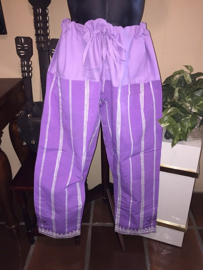 Other Housa Yoruba 4-Piece Grand Boubou Riga Royal Robes; Amethyst & Silver; Men's One Size [ SisterSoul Closet ]