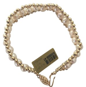Other 14k gold bead cultured pearl bracelet