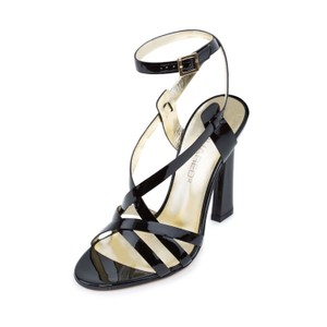 Dsquared2 D2 Women Leather High Heel Dress Black Sandals