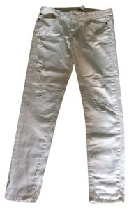 Forever 21 Ripped Boyfriend Cut Jeans-Light Wash