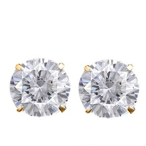 Other 1ctw CZ Studs Earrings in 14K Gold Plated Brass