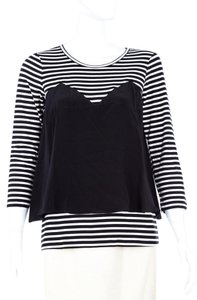 BCBGMAXAZRIA Bcbg Striped T Shirt Black/White