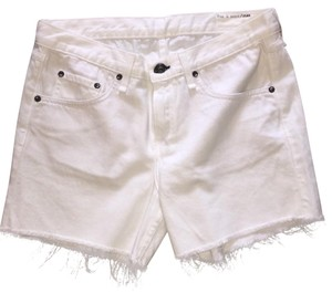 Rag & Bone Cut Off Shorts White