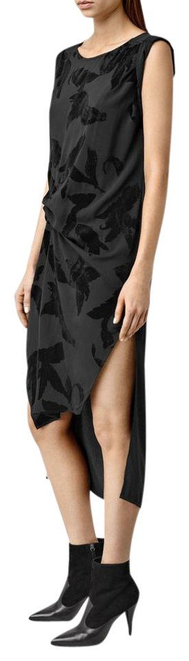 Maxi AllSaints Lux Casual Black Dress Riviera 4IwqHPxwO