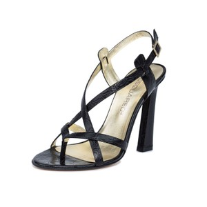 Dsquared2 2 Leather Made In Italy High Heel Black Sandals