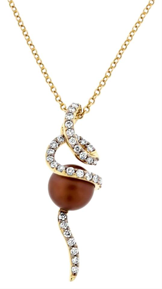 Levian chocolate diamond cultured brown pearl pendant wchain 14k levian levian chocolate diamond cultured brown pearl pendant wchain 14k aloadofball Gallery