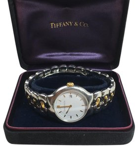 Tiffany & Co. TIFFANY & CO 18KT YG/STEEL TESORO MENS WATCH