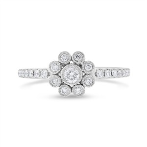Neil Lane 0.33 Ct. Diamond Neil Lane Flower Filigree Ring In Solid 14k White