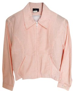 The Limited Seersucker Pinstripe Size 4 Size 6 Cotton Pink and White Jacket