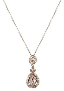 Givenchy Swarovski elements Gold-Tone Teardrop Pendant Necklace