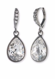 Givenchy Hematite-Tone Pear Drop Earrings