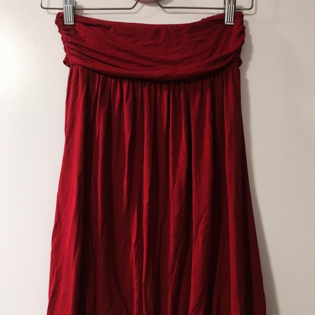 Anthropologie Anthropologie Red Strapless Swimsuit Cover Up Dress