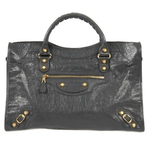 Balenciaga Studded Leather Classic Lambskin Shoulder Bag