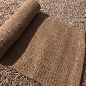 Burlap Table Runners With Gold Shimmer Accent