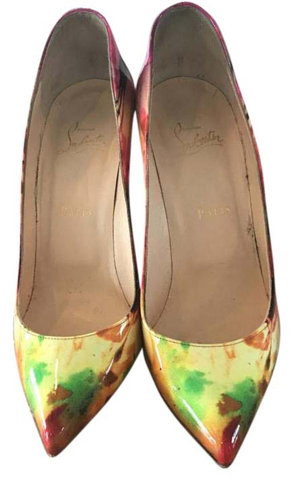 Christian Louboutin Pink Pigalle Follies Leather 100 Patent Tie Dye Leather Follies 37 Pumps 0c5e79
