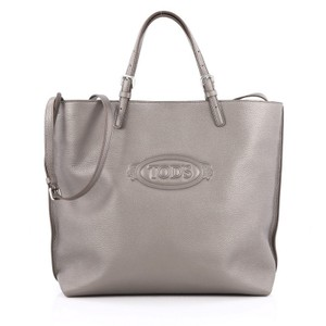 Tod's Leather Tote in Grey