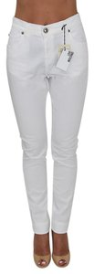 Love Moschino Ankle Length Moschino Skinny Slim Trouser Pants White