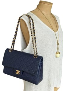 Chanel Lambskin Double Flap Shoulder Bag