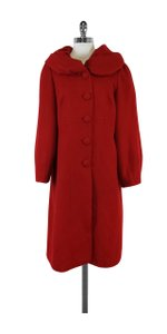 Liliana Castellanos Red Alpaca Coat