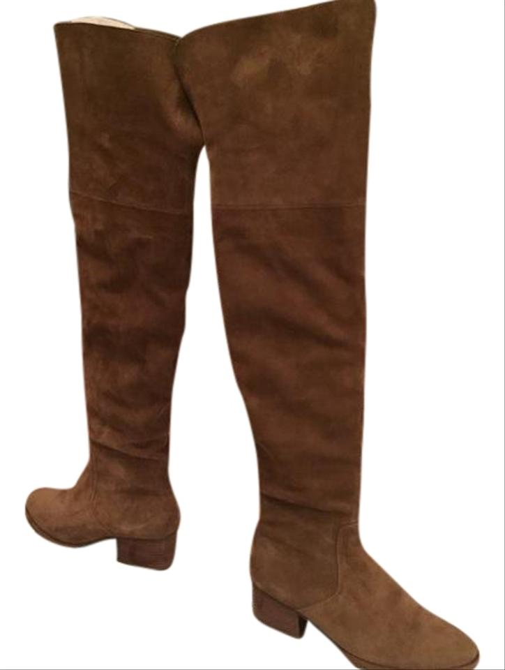 4223413fd68 Via Spiga Dark Taupe Ophira Over The Knee Boots Booties Size US 6 ...
