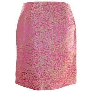 J.Crew Pink Silk Skirt Pink Metallic