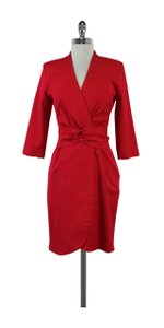 Reiss short dress Hot Pink Belted Faux Wrap on Tradesy