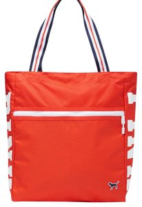 Victoria's Secret Beach Gym Shopping Lunch Pink Tote in Orange (Hot Coral)