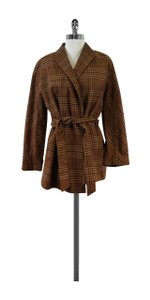 Lafayette 148 New York Brown Plaid Jacket