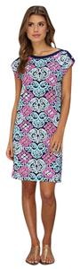 Lilly Pulitzer short dress Bright Navy Behind the Gate on Tradesy