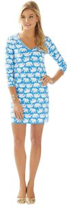 Lilly Pulitzer short dress Bay Blue Tuscan Sun on Tradesy