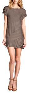 Nabisplace short dress Brown Mini Sexy Pleated on Tradesy
