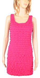 Forever 21 Bodycon Ruffle Pink Dress