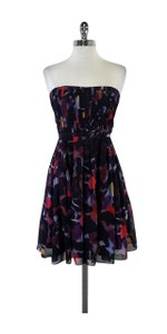 Broadway & Broome short dress Multi Navy Abstract Print Strapless on Tradesy