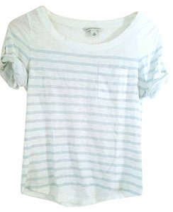 Banana Republic Striped Top Light Blue/White