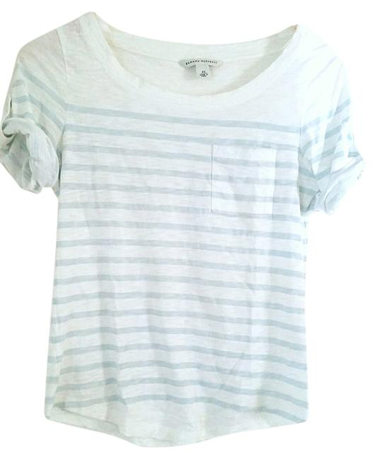 Preload https://item4.tradesy.com/images/banana-republic-light-bluewhite-striped-tee-blouse-size-0-xs-2088093-0-0.jpg?width=400&height=650