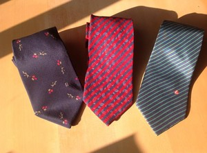 Fendi 3 Fendi Hand Made Silk Ties