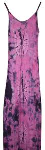Fusia/ Navy Maxi Dress by Original Mexican