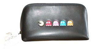 Coach RARE! Limited Edition! Coach PAC-MAN Cosmetic Case In Black Leather