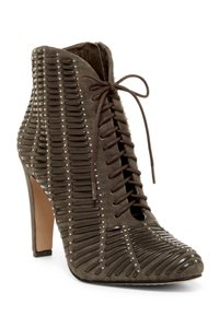Vince Camuto Runway Sexy Gray Studded Laced Bootie Boots